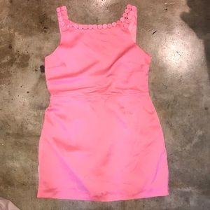 ASOS Petite Coral Pink Open Back Dress